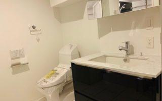 シャワー付き洗面化粧台・ウォシュレット付トイレ