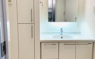 収納の多い洗面台(内装)